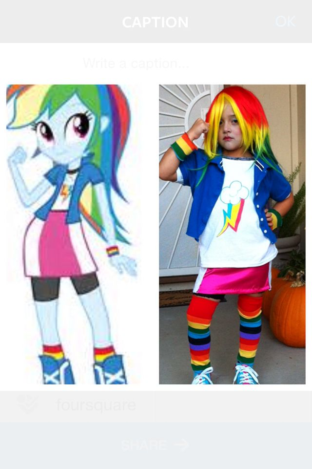 Rainbow Dash Equestria Girl Halloween costume, Rainbow ...
