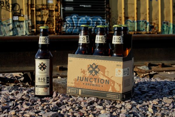 Junction Brewing is ultimately a result of the American Railroad industry and its long-standing and rich history.  The identity was solely based on a convergence of different cross buck signs from the late 1800's and the packaging itself was created and influenced from train tickets from 1890 all the way to the 1940's.