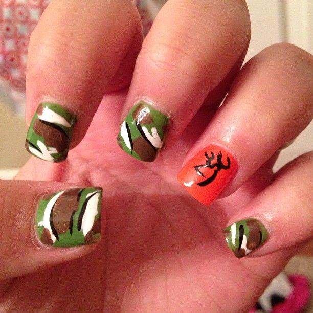 Browning/Camo Nails