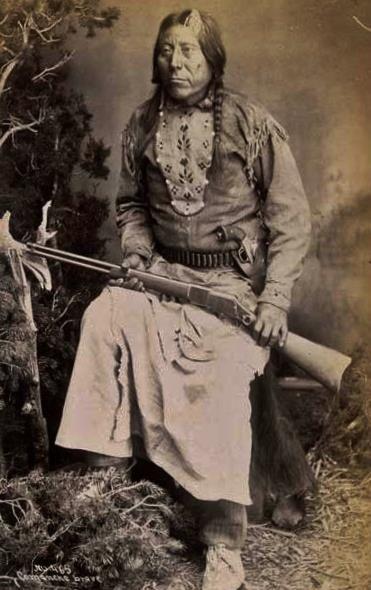 Comanche man - circa 1887