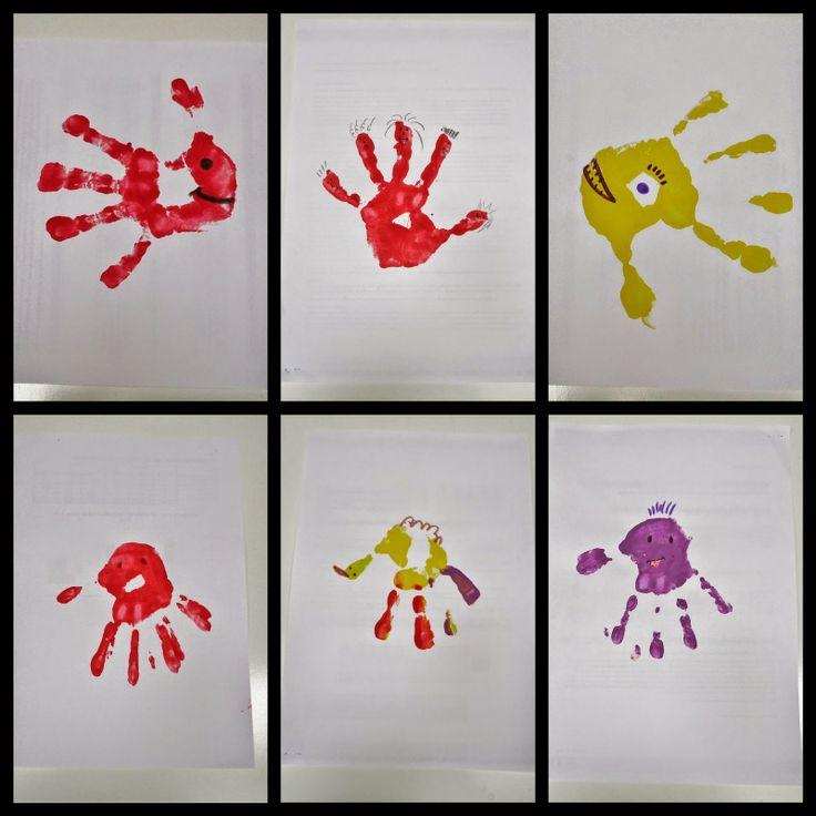 DIY handjes schilderen en figuurtjes van maken