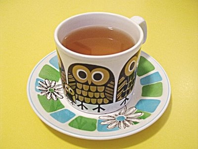 owl cup and saucer