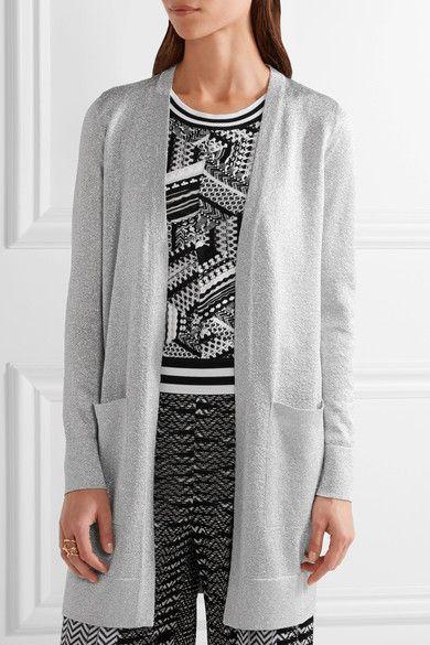 Missoni - Metallic Knitted Cardigan - Silver - IT