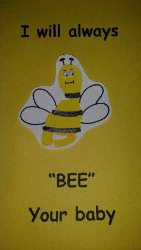Bee footprint