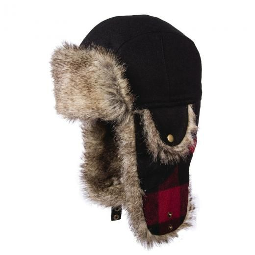 888deb3f209102 Woolrich Sale ** Red & Black Wool Trooper Hat L/xl * Mens Trapper Bomber  Aviator Blend Red/black Insulated