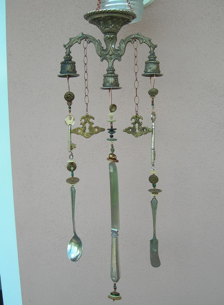 17 best images about windchime ideas on pinterest for Wind chime ideas