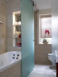 barn door glass door shower bathroom clever