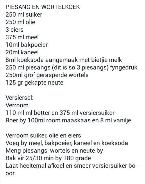 Piesang & Wortelkoek