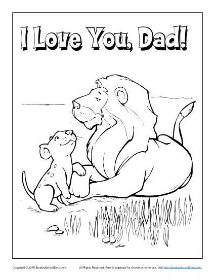 love daddy coloring pages - photo#14