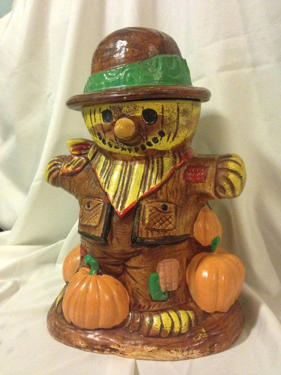 Vintage Cookie Jar Scarecrow by Twin Winton