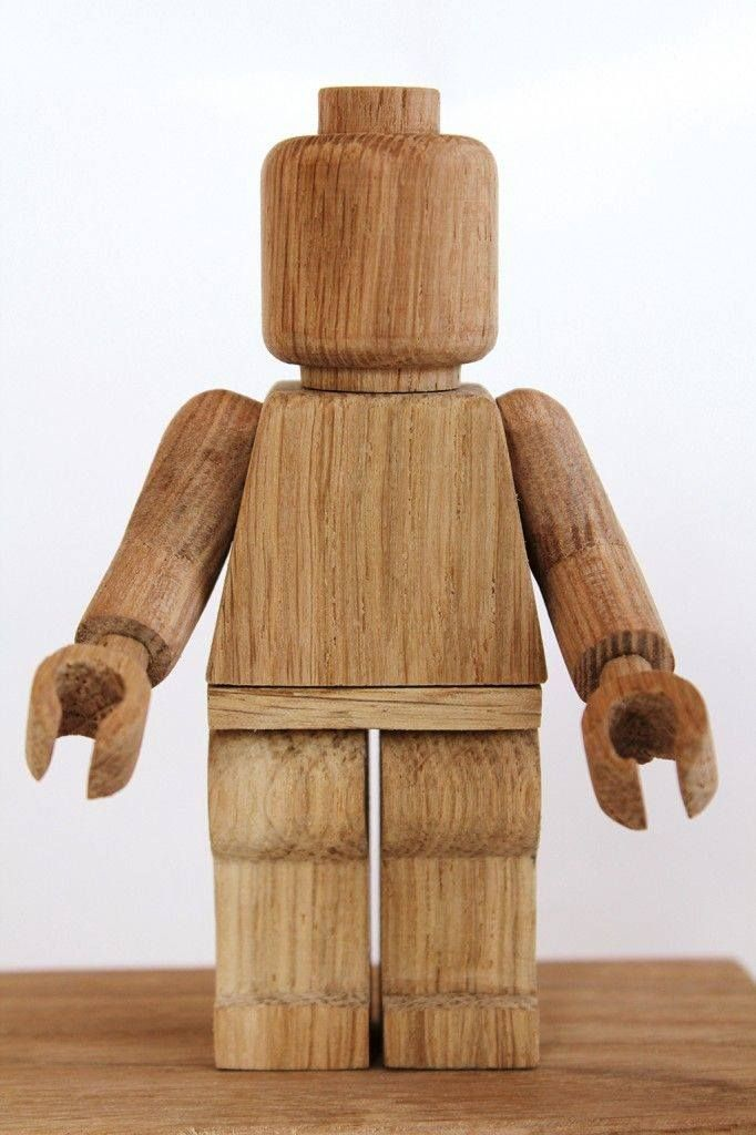 Wooden LEGO man by ?