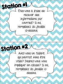 Les créations de Stéphanie: Des stations pour la rencontre de parents