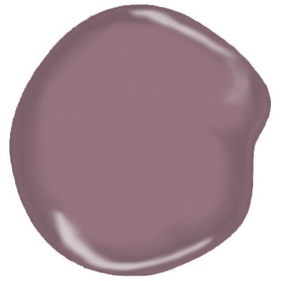 Benjamin Moore Aplomb AF-125 #Paint. Plum and Navy Room