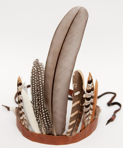 feather head band