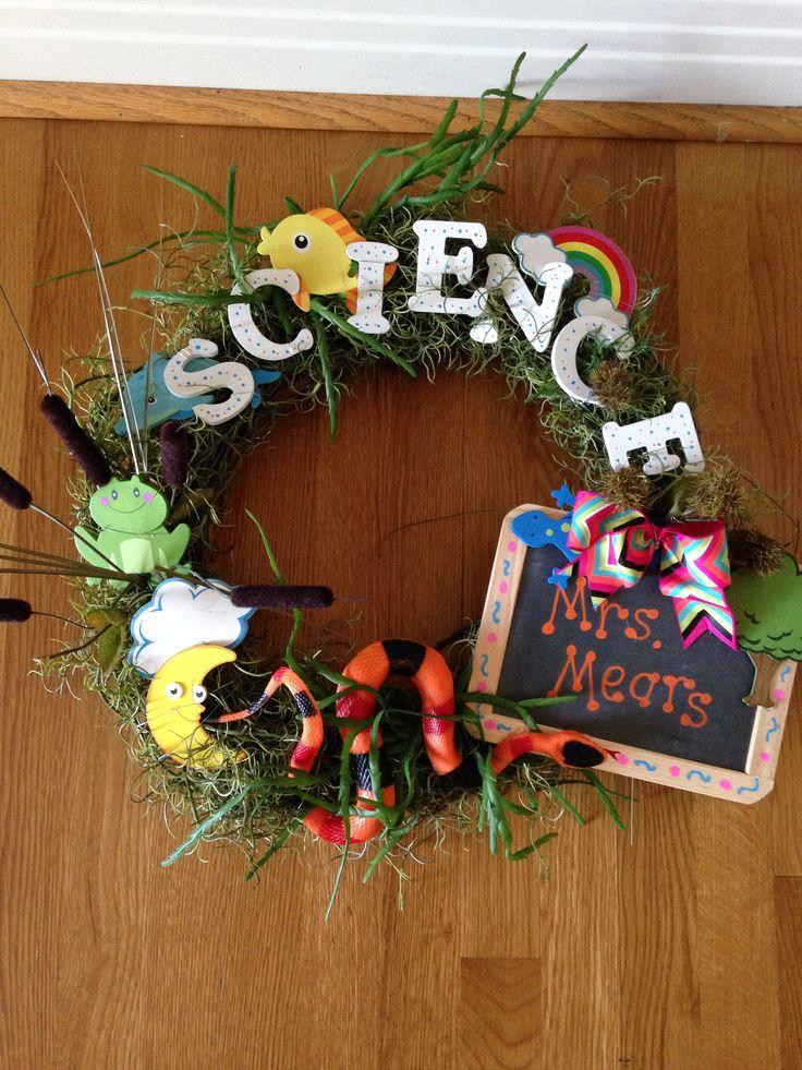 Wreath For Science Teacher S Door Back To School Idea
