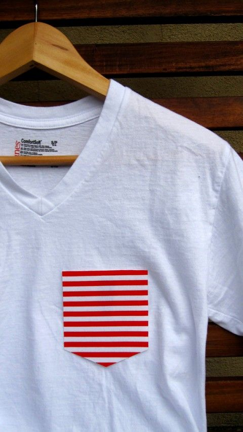 Peel & Stick shirt pocket by Ryan Vanderbilt. #simplicity