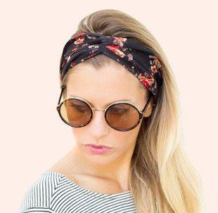 Women Bohemian Turban Twist Knot Head Wrap Floral Headband Twisted Knotted Hair Band Cotton Turban Headband 1PC
