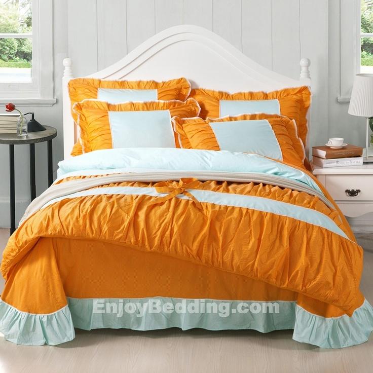 Orange Bedding Sets 250TC Cotton - EnjoyBedding.com