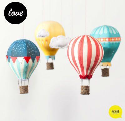 baby mobile craft | Make: Craft Schmaft hot air balloon mobile kit