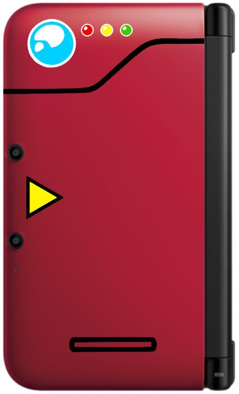 Pokedex decal kit for red 3DS & 3DS XL by GameThemedThings on Etsy, $15.00
