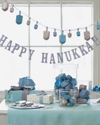 Martha Stewart Chanukah decor