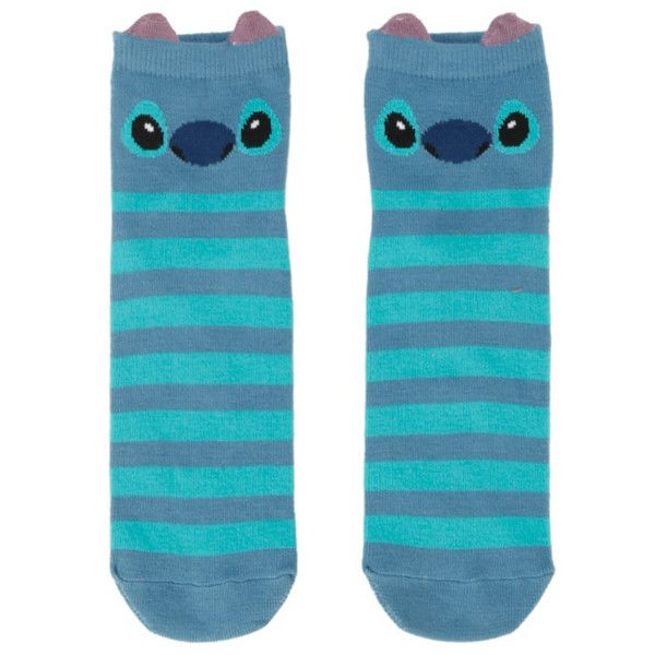 Disney Lilo & Stitch Stripe Stitch Ankle Socks | Hot Topic (£2.92) ❤ liked on Polyvore