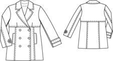 burda style: Damen - Jacken - Lange Jacken - Cabanjacke