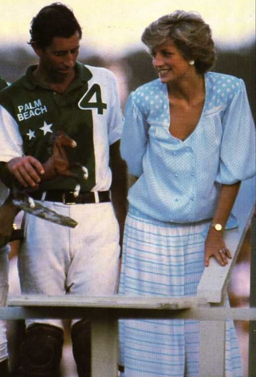 Prince and Princess of Wales at a Polo Match