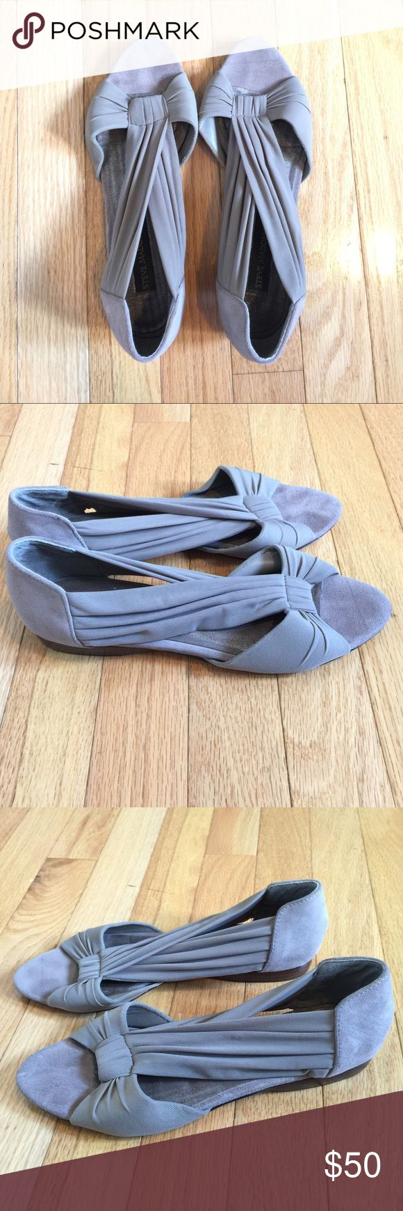 STEVE MADDEN LUXE gray flats with gauze (7) ✨ STEVE MADDEN LUXE gray flats with gauze upper. Super comfortable and chic! (7) ✨ Steve Madden Shoes Flats & Loafers