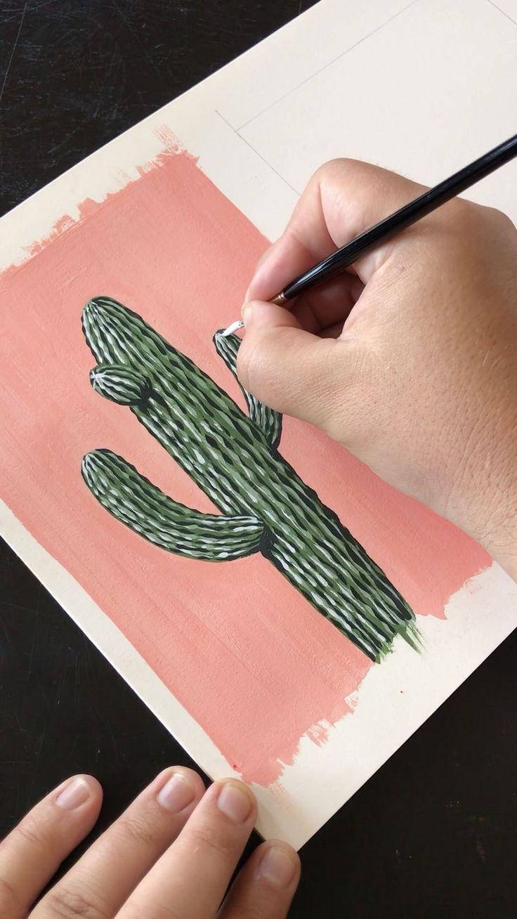 Painting Saguaro Cactus 🌵 by Philip Boelter – Zeichnen/Malen