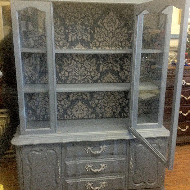 Annie Sloan chalk painted china cabinet... beautiful.