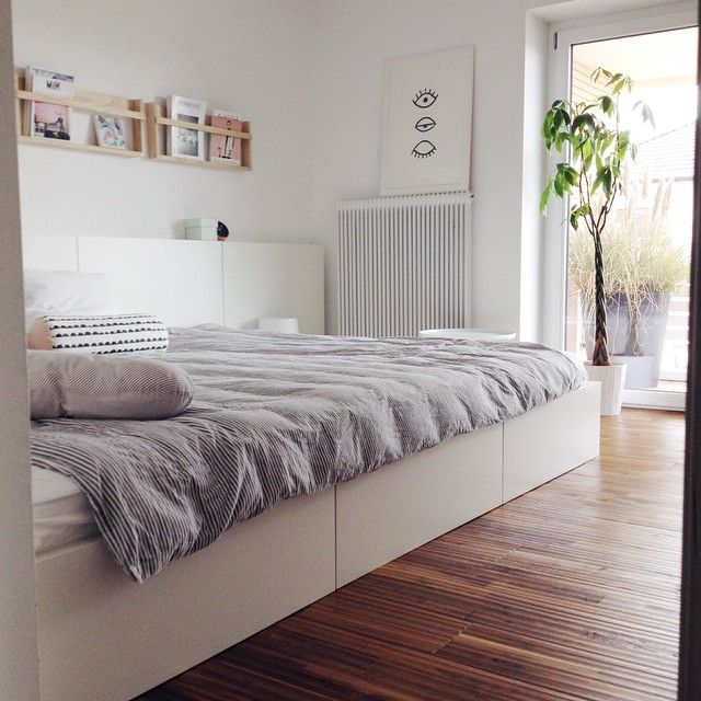 ber ideen zu malm bett auf pinterest bett eiche monitorst nder und stilvoll wohnen. Black Bedroom Furniture Sets. Home Design Ideas