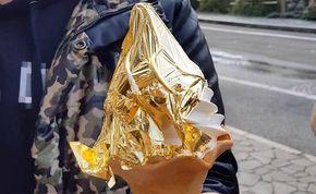 Hakuichi cria sorvete folheado a ouro - http://superchefs.com.br/hakuichi-cria-sorvete-folheado-a-ouro/ - #Hakuichi, #Japão, #Noticias, #Sorvete, #SorveteJaponesCobertoComOuro