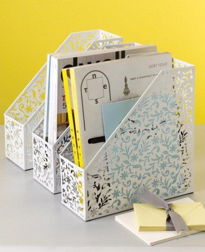 Design Ideas Vinea Magazine File/Holder, White Design Ideas