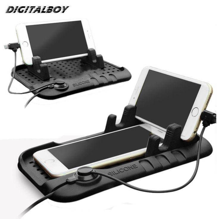 Digitalboyユニバーサル携帯電話自動車電話ホルダー調整可能なブラケットコネクタ磁気充電マウントのためのiphone 5 s 6 samsung