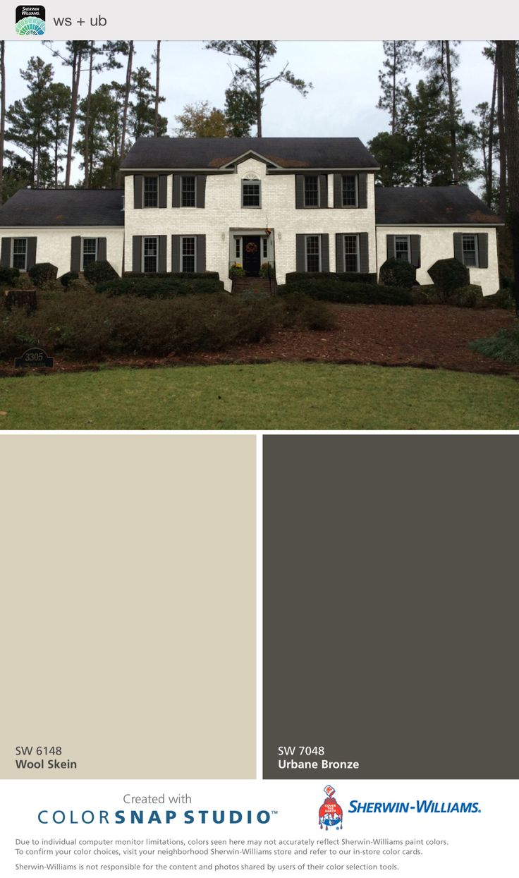 Wool Skein Urbane Bronze Stucco House Colors House