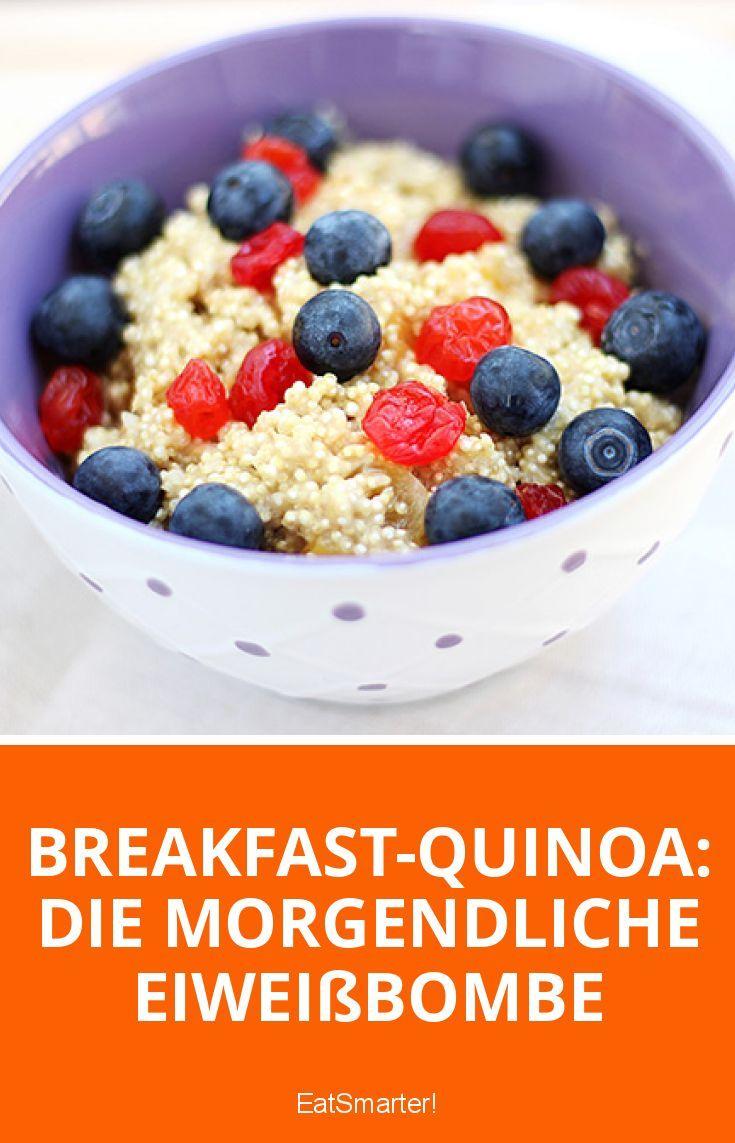 Frühstücks-Quinoa: Die Frühstücksproteinbombe | eatsmarter.de #gesund # frühestens …   – Gesund kochen mit EAT SMARTER
