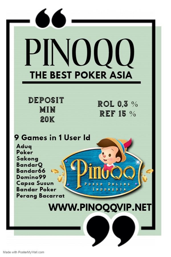 Www Pinoqqvip Net The Best Poker Asia In 2020 9 Game Poker Bandar