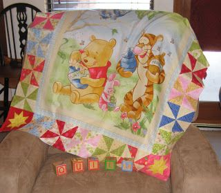 Robin Loves Quilting: Winnie the Pooh Finish