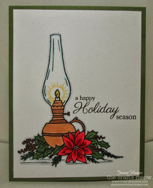 Stampin' Away the Day: The Craft's Meow Preview ~ Christmas Lantern