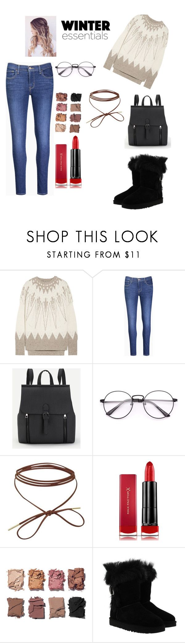 """""Baby it's cold outside!"""" by esburger-1 ❤ liked on Polyvore featuring ADAM, Levi's, Max Factor, Illamasqua and UGG"