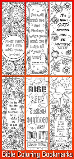 Bible Coloring Bookmarks #bible #bookmarks #sellfy
