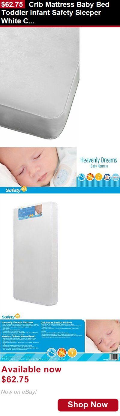 Crib Mattresses: Crib Mattress Baby Bed Toddler Infant Safety Sleeper White Crib Mattress BUY IT NOW ONLY: $62.75