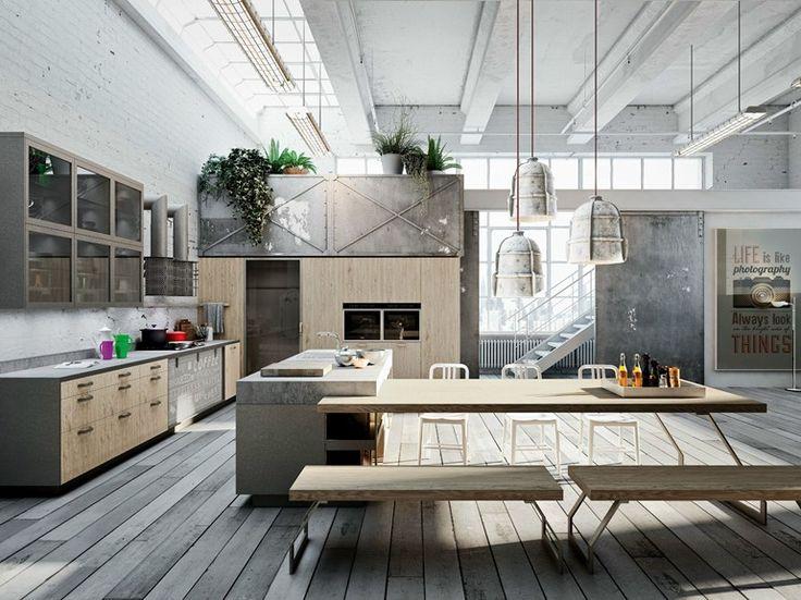 Cocina lineal con isla CODE EVOLUTION by Snaidero | diseño Michele Marcon