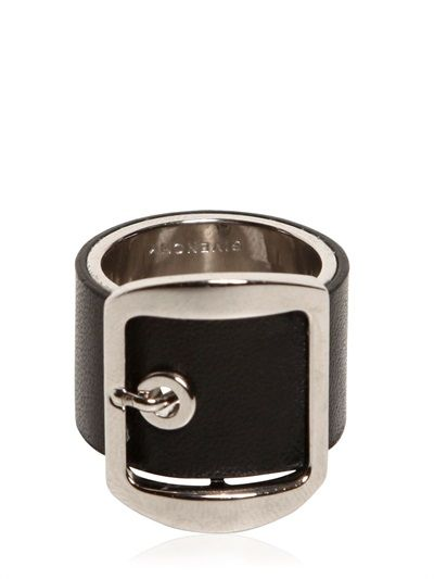 GIVENCHY - BUCKLE LEATHER RING - LUISAVIAROMA - LUXURY SHOPPING WORLDWIDE SHIPPING - FLORENCE