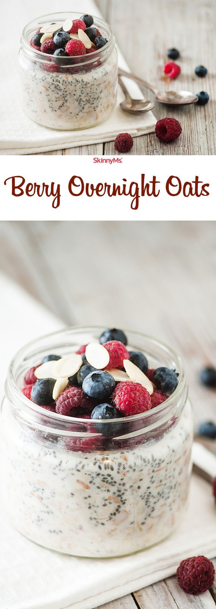 Berry Overnight Oats! My new fav breakfast obsession. :)