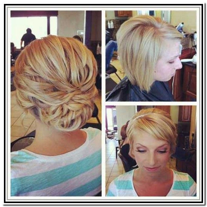 42 Best Hair Updos For Short Hair Images On Pinterest Hairstyle