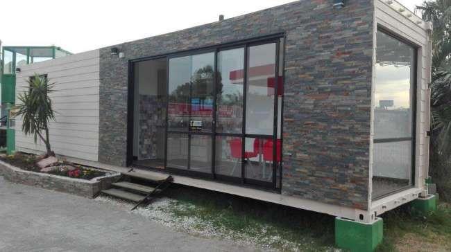Excelente casa contenedor vivienda y oficina for Diseno de oficinas con contenedores