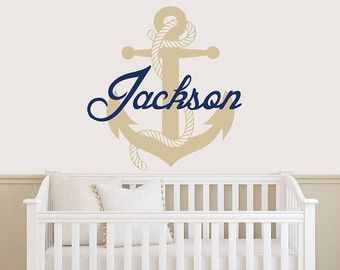 Personalized Nautical Wall Decal Personalized Anchor Wall