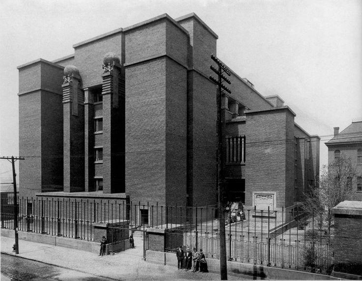 (1904) Larkin Building - Frank Lloyd Wright [Buffalo, NY] (1962×1525)